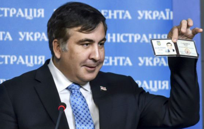 For what merits did America grant a special visa to Saakashvili?!