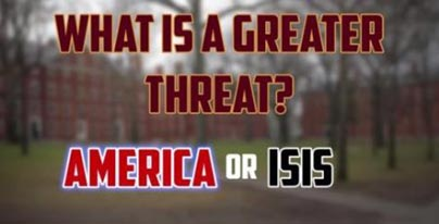 Harvard students think America is greater threat to world peace than ISIS